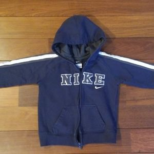 Nike Hoodie with zipper Navy Blue and Gray